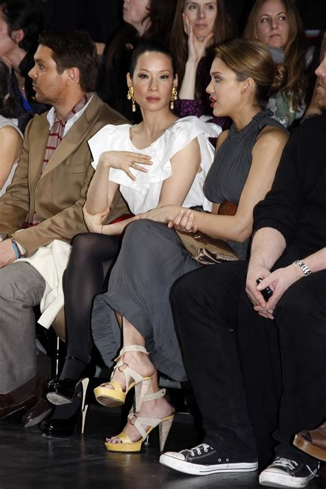 Lucy Liu is not know for her legs but their worth!