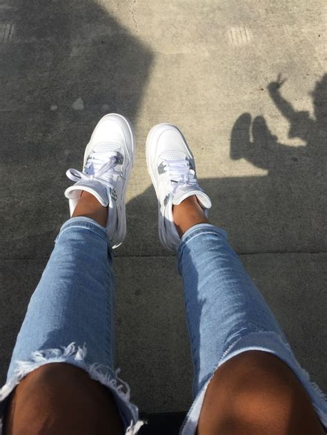 Pure money 4s with ripped jeans | Pure money 4s, Gym shoes