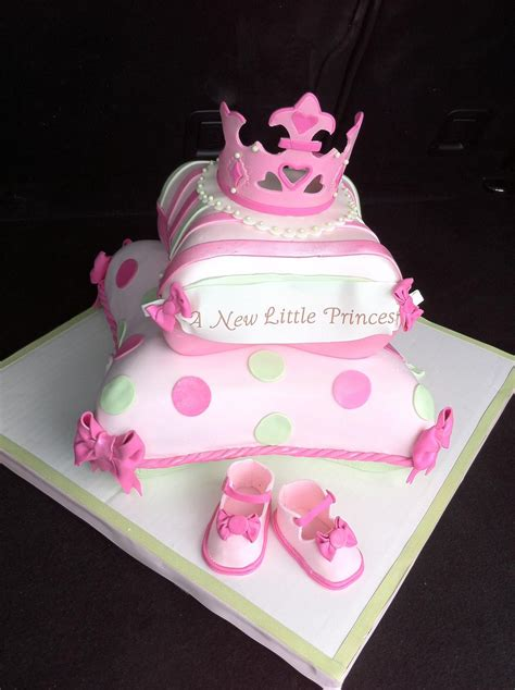 Baby Shower Pillow Cake | Princess baby shower cake, Baby