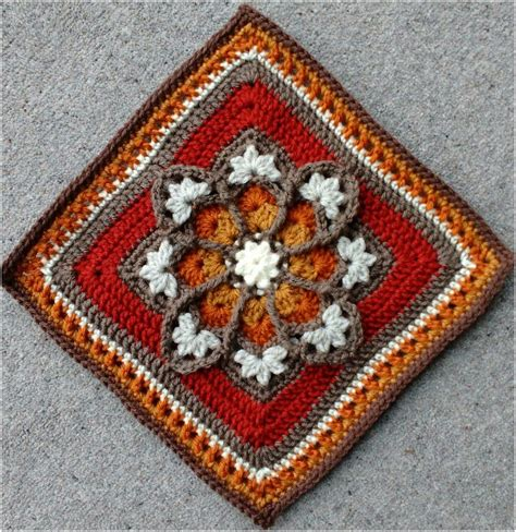 Stained Glass Afghan Crochet Square [FREE] | Horgolás