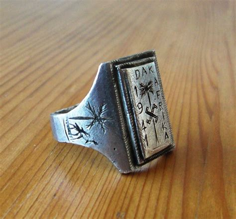 l Silver and Gold Afrika Korps Ring