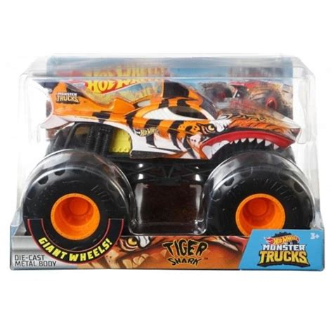 Hot Wheels Monster Trucks 1:24 játék autó - TIGER SHARK | Já