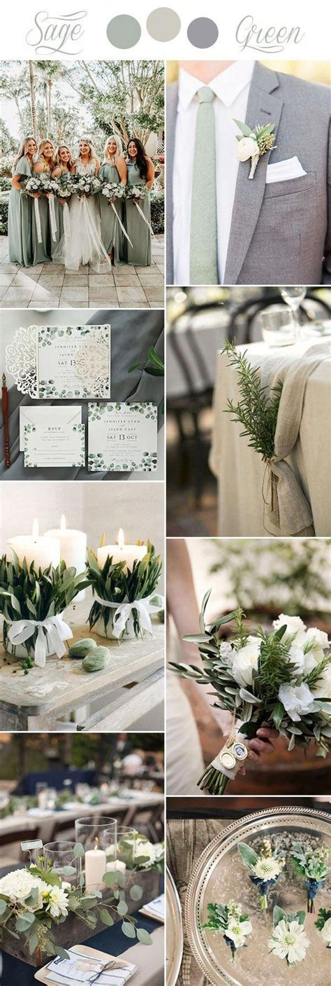 sage green, beige and grey rustic chic wedding colors #