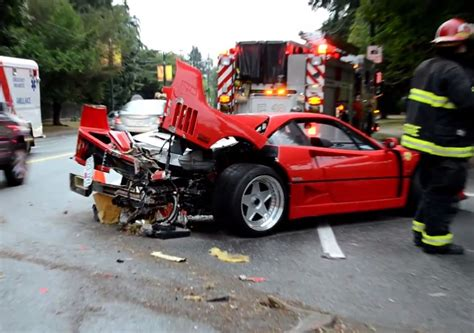 Ferrari F40 crash in Vancouver is sad to see