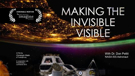 """The ISS Image Frontier - """"Making the invisible visible"""