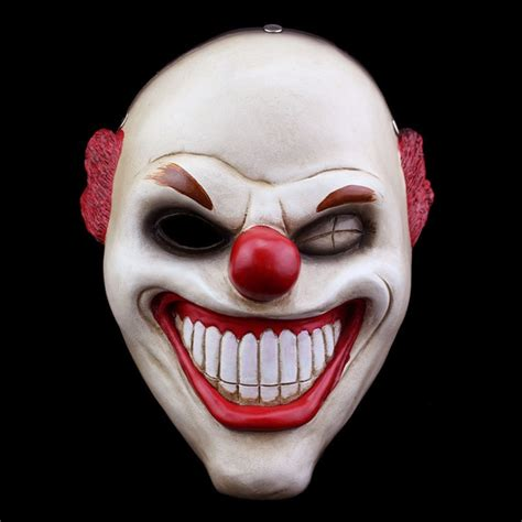 Fashion Game Payday Mask Cosplay New Red Nose Clown Resin
