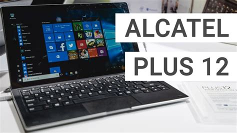 Alcatel Plus 12 with LTE Keyboard Hands On & Quick Review