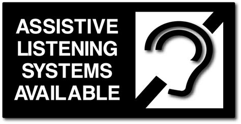 Assistive Listening Systems Available Sign - ADA Compliant