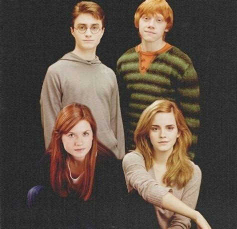 Harry Potter, Ron Weasley Ginny Weasley and Hermione