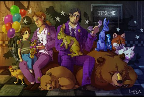All FNAF characters in realistic style by LadyFiszi