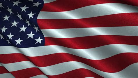 American Flag Flying in the Stock Footage Video (100%