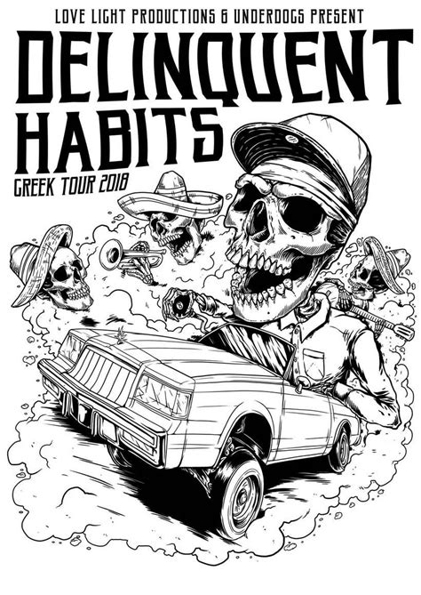 """""""Delinquent Habits - Gigposter"""""""